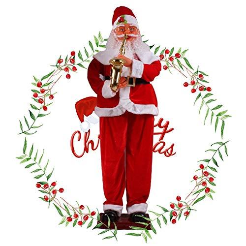 CattleBie Electric Induction Weihnachten Old Man 1.8 Meter Klassisches Saxophon Musik Elektro Willkommen Old Man (Größe : 1.8m)