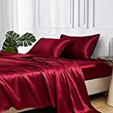 Best Satin Sheets - MR&HM Satin Bed Sheets, Queen Size Sheets Set Review