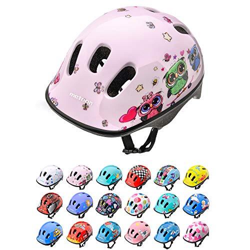 Casco Bicicleta Bebe Helmet Bici Ciclismo para Niño - Cascos para Infantil Bici Helmet para Patinete Ciclismo Montaña BMX Carretera Skate Patines monopatines (S 48-52 cm, Little Owl)