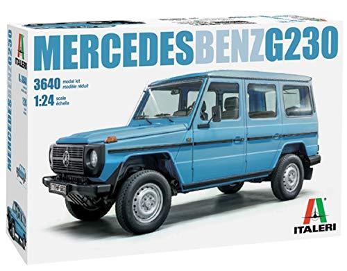Italeri 3640S 1:24 Mercedes Benz G 230, originalgetreue Nachbildung, Modellbau, Basteln, Hobby, Kleben, Plastikbausatz, Zusammenbauen