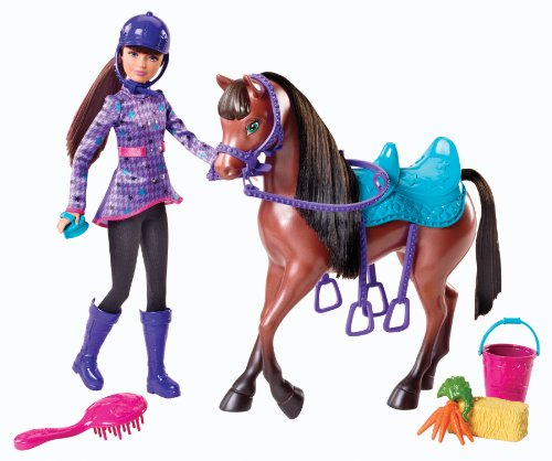 Mattel Barbie and Her Sisters In A Pony Tale Skipper and Horse