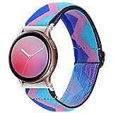 Chofit Correa compatible con Garmin Venu Sq/Amazfit Bip U Pro/Amazfit GTS 2e/Samsung Galaxy Watch 3 41 mm, correas elásticas de nailon tejido con patrón floral de repuesto de 20 mm (#1)