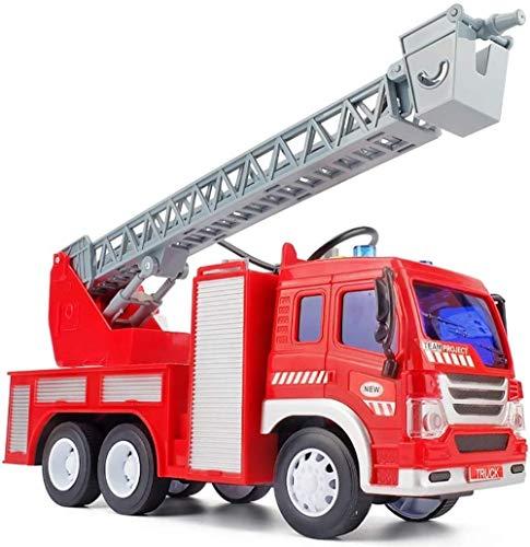 HXR Juguete del Coche de Bomberos del Sonido y la luz Puede rociar Agua telescópica Escalera Carro de la Ambulancia Boy Vehículos de Juguete (Color : A)