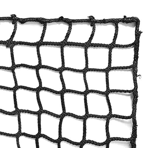 Aoneky Red de Detención de Fútbol - Red de Barrera Protectora para Detener balones, Red de Protección para Campo Bordes, Red Deportiva de Seguridad, Red de Respaldo, Backstop Net, Negro (3×6M)
