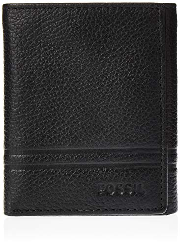 Fossil Men's Wilder Trifold, Black, One Size