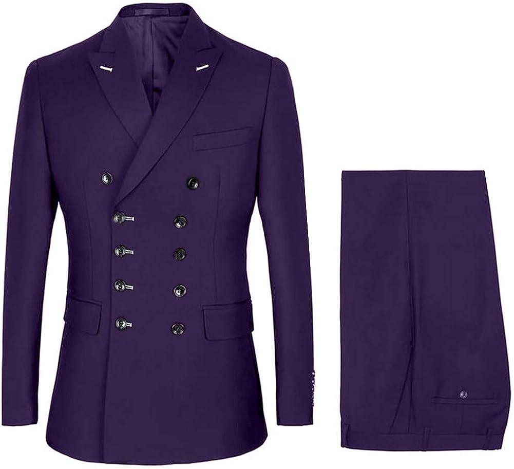 RONGKIM Double Breasted Slim Fit キャンペーンもお見逃しなく Formal Suit Men's Wedd 並行輸入品 Business