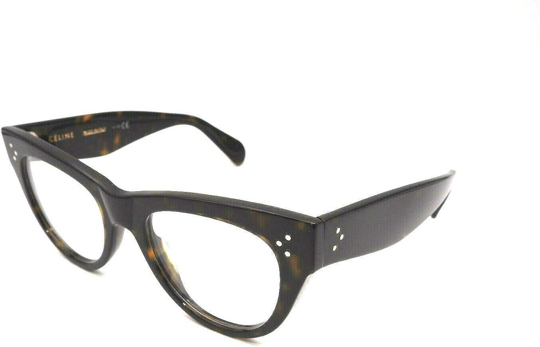 Celine CL50003I - 052 ACETATE Eyeglass Frame Dark Tortoise 50mm