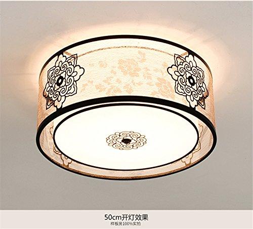 BRIGHTLLT Nouvelle lampe de plafond chinoise Moderne Luminaire de chambre simple Luminaire de salon Lampes rondes Atmosphère chaleureuse Plafonnier créatif, 500 * 230 mm