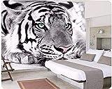 Mural Papel Pintado Tigre animal Fotomural para Paredes Papel pintado tejido no tejido Decoración de Pared decorativos Murales moderna 300(W)X210(H) cm