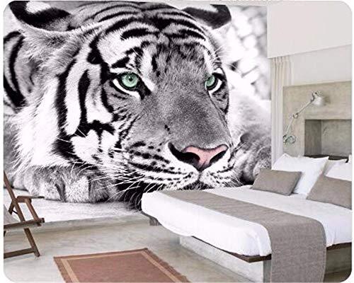 Mural Papel Pintado Tigre animal Fotomural para Paredes Papel pintado tejido no tejido Decoración de Pared decorativos Murales moderna 350(W)X256(H) cm