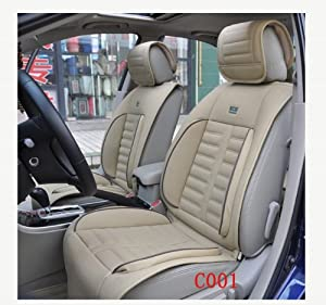 Surprising Auto Car Bamboo Charcoal Leather Front Rear Seat Cover Squirreltailoven Fun Painted Chair Ideas Images Squirreltailovenorg
