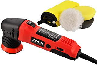 ZOTA Polisher,3 inch Orbital Polisher with 13.1' Cord, Mini Portable Rotary Polisher Kit with 3 Polishing Pads and Microfi...