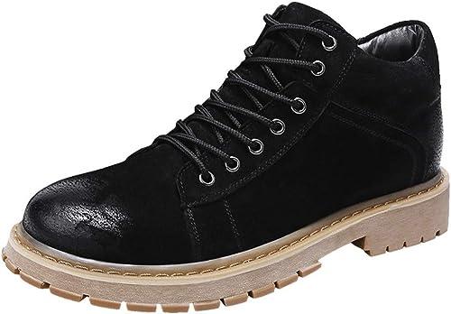 Oudan botas para Caminar para hombres Hauszapatos de Cuero Hauszapatos de Deporte para Entrenamiento de Trekking al Aire Libre Trabaño Informal (Color   7, Tamaño   45EU)
