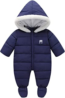 Infant Baby Girl Boy Winter Puffer Footed Snowsuit Pram Bunting