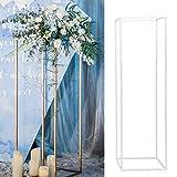 LZDseller01 - Vaso per fiori in metallo, per colonna, supporto per fiori, vasi rettangolari, supporto per matrimonio, decorazione per la casa, per la guida, per la strada, la spiaggia