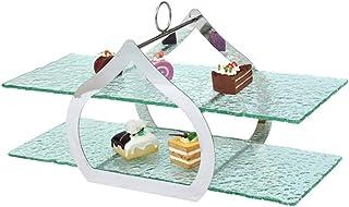 Hotel Buffet Postre Table, Soporte de refrigerio de alimentos Soporte de depósito creativo Pastel de almacenamiento Rack m...