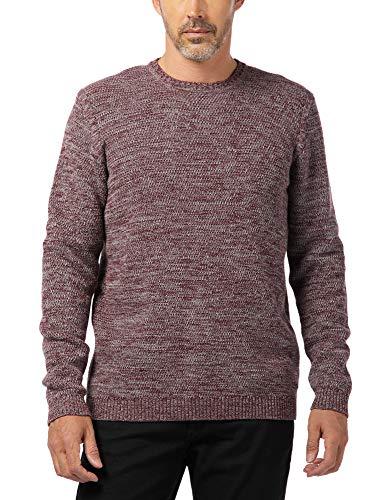 Pioneer Herren Knitted Crew-Neck Pullover, Mehrfarbig (Bordeaux 809), XXL