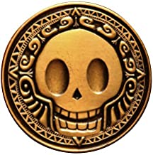 Pirate Coins - Pack of 5 - Metal, Die Cast, Hand Designed Coins