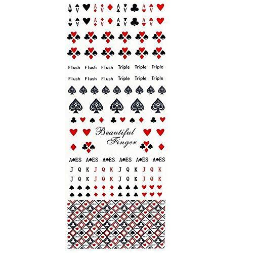 One Stroke Sticker, Nail Tattoos - wunderschön - Karten/Kartenspiel - 702-HOT-188