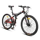 Vélos 24 Pouces vélo VTT vélo Pliant Adulte 24 Hommes et Femmes Vitesse Pliage Voiture de Course Professionnelle (Color : Blanc, Size : 24inches)