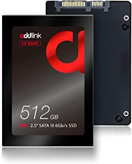 addlink S20 512GB SSD 3D NAND 2.5 inch SATA III 6Gb/s 7mm Internal Solid State Drive Read 550MB/s Write 500MB/s