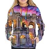 RROOT - Sudadera con capucha para mujer y niña Coliseo de Roma M