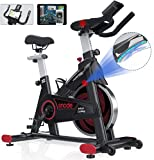 SNODE Indoor Cycling Bike Magnetic Resistance Compatible with Zwift and Kinomap, Heavy Duty Indoor Exercise Bike for Home Use with Tablet Holder, Belt Drive Magnetic Stationary Bike