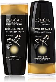 2-Pack L'Oreal Paris ElviveTotal Repair 5 Repairing Shampoo, 12.6fl oz