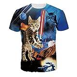 Wiboyjp メンズ 3D 春 夏 猫柄 ヒップホップ メンズtシャツ 猫 ネコ ネズミ 3d ストリート トレンド スウェット t shirt 3dtシャツ 半袖tシャツ サマー ファッション ユニセックス
