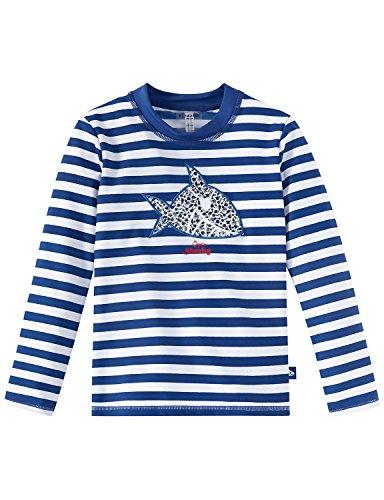 Schiesser Jungen Bademantel Aqua Capt´N Sharky Bade-Shirt, Blau (Admiral 801), 98 (Herstellergröße:098)