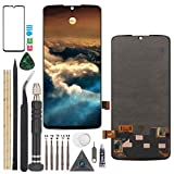 LCD Screen for AMOLED Motorola Moto Z4 LCD Display Touch Screen Digitizer for Motorola Moto Z4 XT1980 XT1980-3 XT1980-4 LCD Replacement(Black with B-7000 Glue, Not for Z4 Play).