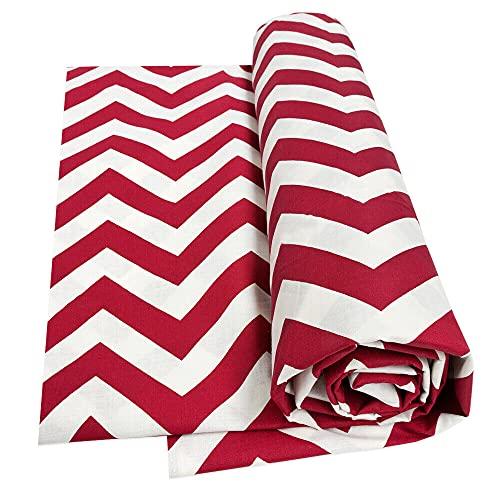 Tela decorativa para cubrir todo el algodón, funda de sofá, protector del polvo, mod. Gran foulard, 11 l, 170 x 280 cm, color rojo