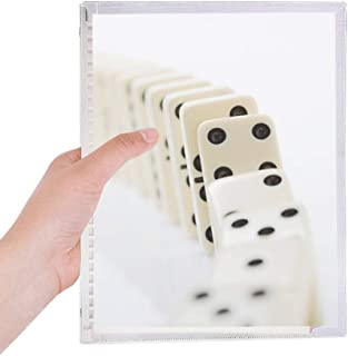 Gambling Pai Gow Dominoes Photo Notebook Loose Leaf Diary Refillable Journal Stationery