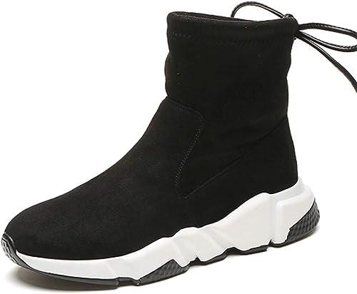 ZHRUI mujer zapatos de Invierno Damas Sobre la Rodilla Martin Motocicleta botas Altas (Color   negro, tamaño   7 UK)