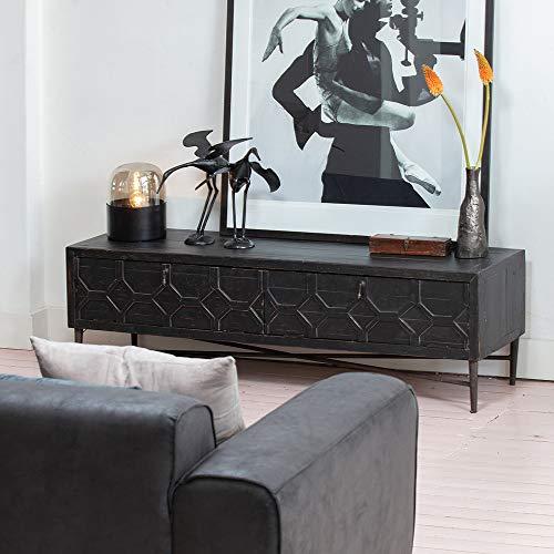 De Eekhoorn TV Möbel Bequest 160 cm Fernseh Board TV-Board Lowboard Kiefer Holz Metall