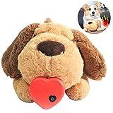 Heartbeat - Juguete de peluche para mascotas, juguete de peluche para calefacción de mascotas, juguete de entrenamiento de comportamiento para cachorros y gatos inteligentes