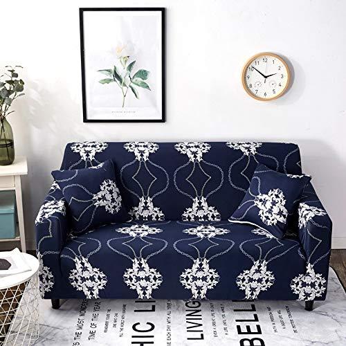 WXQY Funda de sofá con diseño Floral, elástico elástico, Universal, Funda para sofá, Funda seccional, sofá, Esquina, para Muebles, sillones, A23, 4 plazas