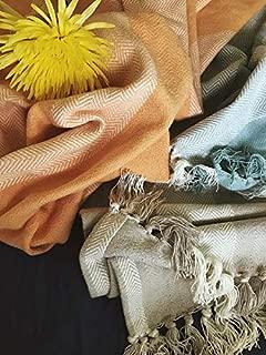 Magnolia Organics Patterned Blanket - Throw, Blue Haze