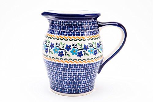 Bunzlauer Keramik Kanne / Eisteekanne / Milchkanne 1.4 Liter, Ø18.3 cm, H=17.5 cm im Dekor 1154a
