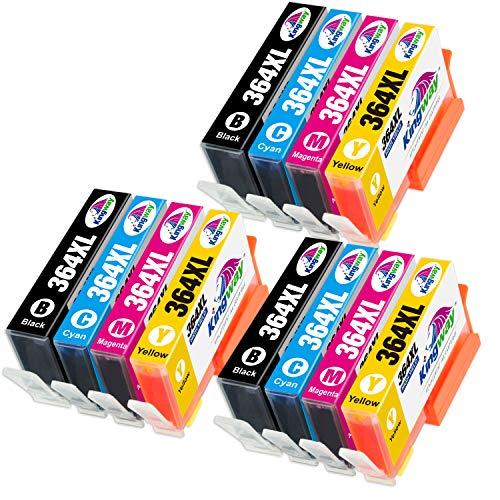 Kingway Compatible para HP 364 364XL Cartuchos de Tinta para HP Deskjet 3070A 3520 Officejet 4620 4622 Photosmart 5510 5511 5512 5514 5515 5522 5524 5520 6510 6520 6512 6515 B010a B109a (12 Pack)
