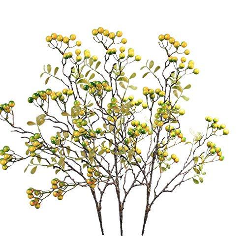 XYAO tannenzweige künstlich, die nach Bedarf gebogen und zur Dekoration in eine Vase gestellt Werden können (Cyan, 3)