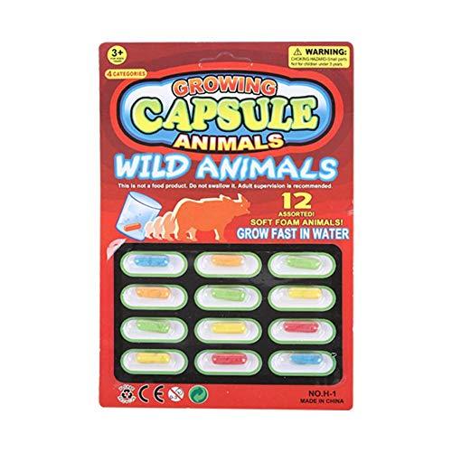 N/I Orbeez Water Beads, 4PCS Nuevas Cápsulas De Juguete para Animales con Expansión De Burbujas De Agua para Niños, El Paquete Contiene 12 Tipos De Cápsulas (Colores Aleatorios)