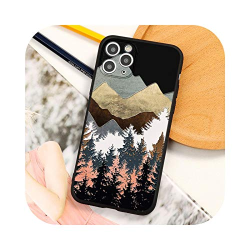 3D Emboss Mountain Silikon Handyhülle für Coque iPhone 12 Mini 6 7 6S 8 Plus 5 SE 2021 X XR XS 11 Pro Max TPU Relief Back Cover -sbbshuhe-For iPhone 12 ProMax