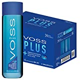 Voss Water, VOSS UK Plus, Artesian Still Water with Aquamin, Minerals and Electrolytes, Bulk pack of 24 x 500 ml