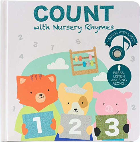 Cali's Books Count Nursery Rhymes - Musical Book. Educational Interactive Toy for Toddlers 1-3 and 2-4. Counting and Numbers Songs for Learning Through Play (1st Edition)