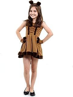 Fantasia Leoa Vestido Luxo Infantil Sulamericana Fantasias Bege/Marrom G 10/12 Anos