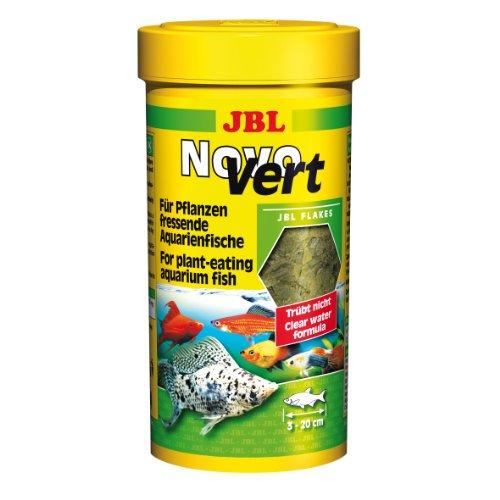 JBL NovoVert 30195 Alleinfutter für pflanzenfressende Aquarienfische Flocken, 250 ml