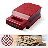 LTLCLZ Sandwich Maker Toaster Waffel Brot-Maschine Non-Stick Haushalt Multifunktions Frühstück...
