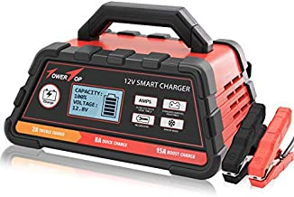 2/8/15A 12V Smart Battery Charger/Maintainer Fully Automatic with Winter Mode