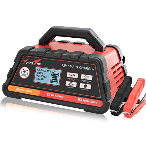 Save %13 Now! 2/8/15A 12V Smart Battery Charger/Maintainer Fully Automatic with Winter Mode